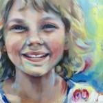 Portretten in opdracht. Acrylverf op doek. Detail