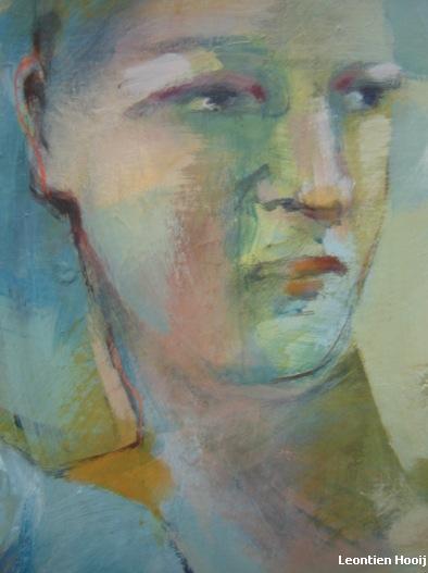 Vrije Expressie. Acrylverf op doek. Detail 2.