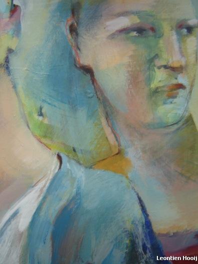 Vrije Expressie. Acrylverf op doek. Detail 1.