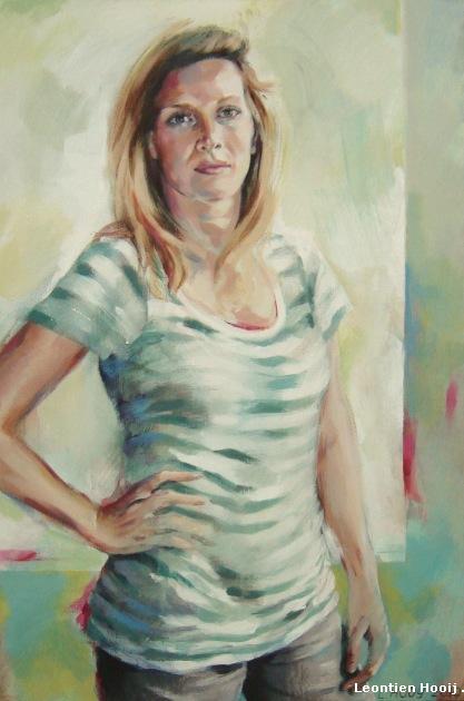 Portretten in opdracht. Acrylverf op doek.